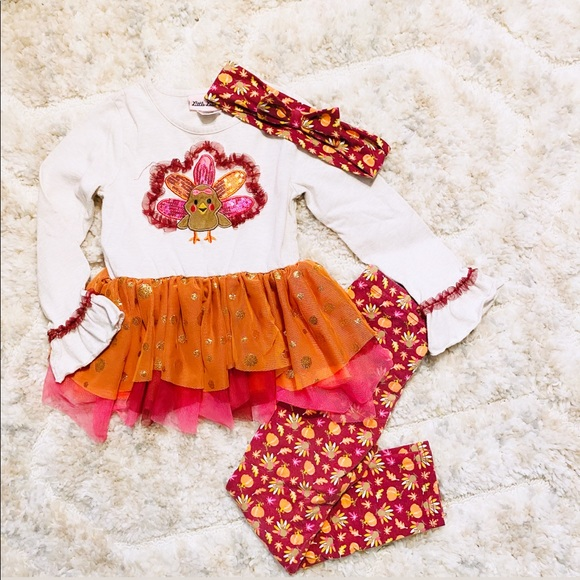 Little Lass Turkey Outfit